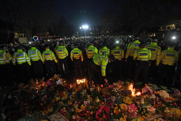 Harrow Times: The Metropolitan Police force has been criticised for the way it handled Saturday's vigil. Credit: PA