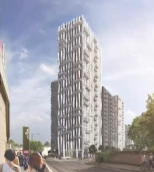 A CGI of part of the development (Photo: Brent Council)