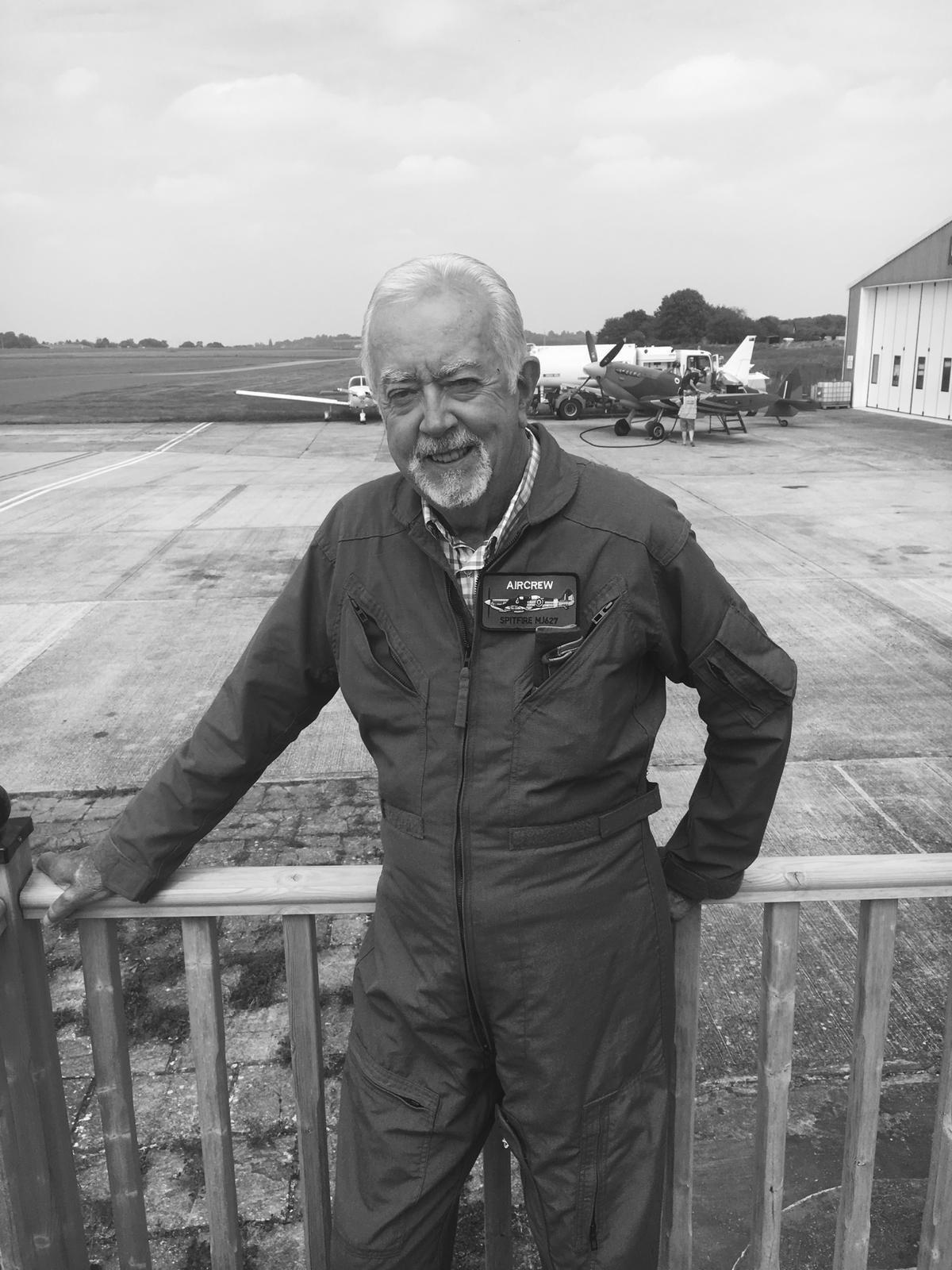 Eddie Collins pictured at Biggin Hill Airfield