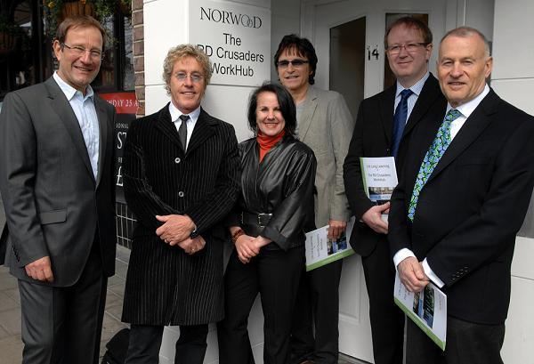 Richard Desmond with Roger Daltrey and the RD Crusaders