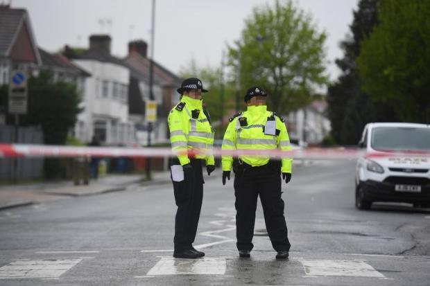 Harrow Times: Police cordon in Queensbury in north London in 2018. Credit: PA