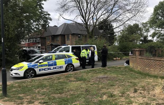 Harrow Times: The crime scene at Fryent Park (Photo: SWNS)