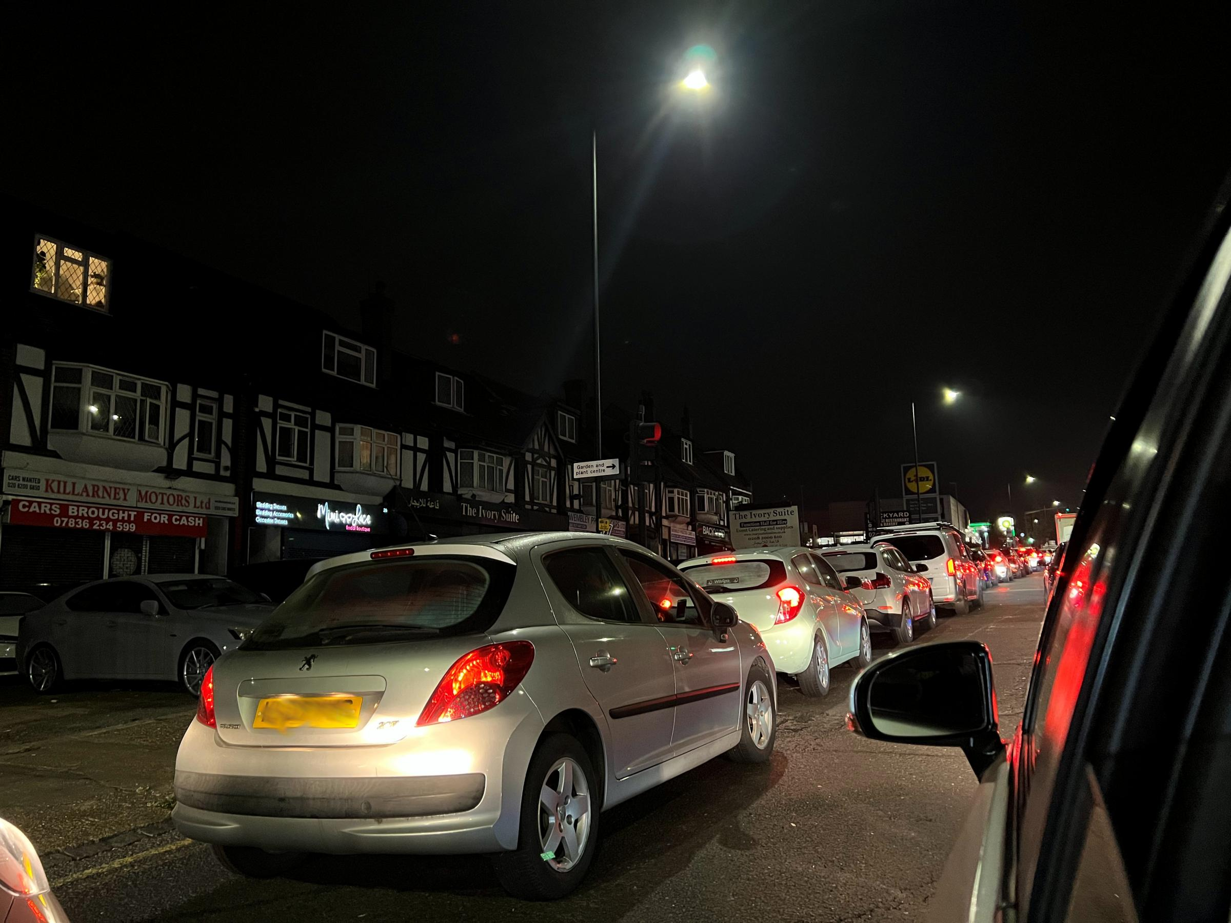 Some cars queued for at least 30 minutes in a wait for petrol (Photo: Joseph Reaidi)