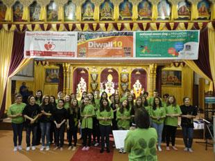 The Alyth Youth Singers entertained older people of all faiths at the Shree Swaminarayan Temple, Golders Green.