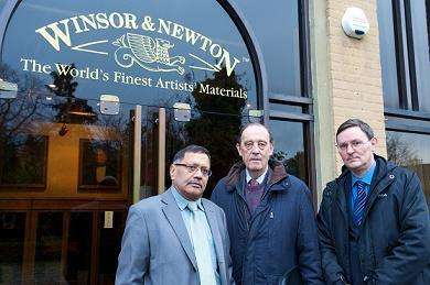 Councillor Bill Stephenson, Councillor Phil O'Dell and Navin Shah, London Assembly member for Brent and Harrow, lobbied ColArt on Thursday.