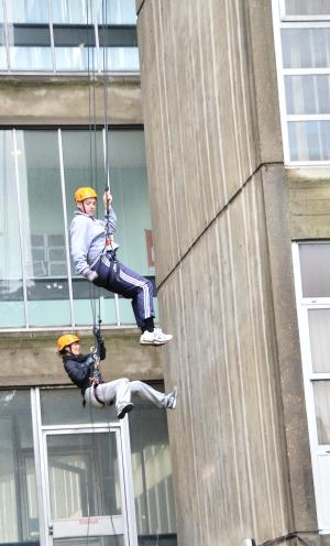 Abseiling at Northwick Park