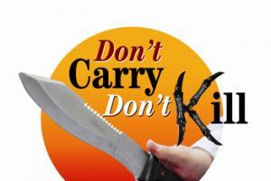 Government backs Don't Carry Don't Kill with tough new knife crime sentences
