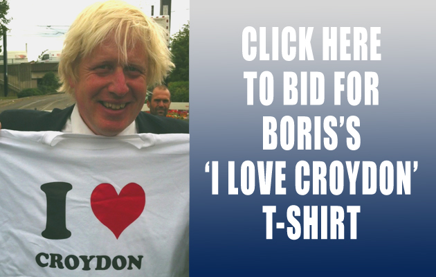 Boris Johnson T-shirt auction