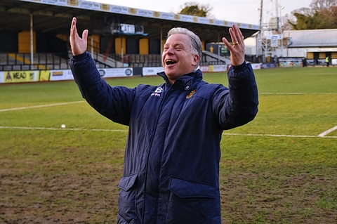 Gordon Bartlett has guided the Stones to the title: Steve Foster/Wealdstone FC