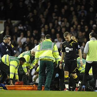 The medical team tend to Fabrice Muamba