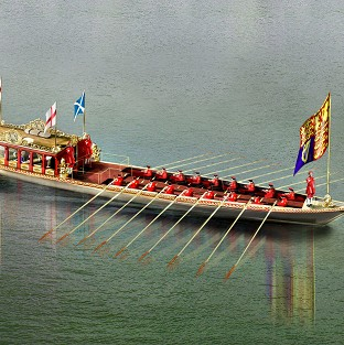 An artist's impression of Gloriana, the Royal row barge built to mark the Queen's Jubilee (Thames Diamond Jubilee Pageant/PA)