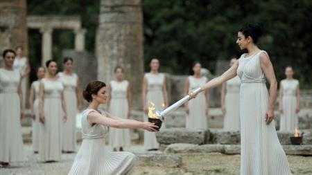 The Olympic Flame is lit in Greece, in a ceremony dating right back to the Ancient Games. The Flame takes a journey around Greece before touching down in Cornwall for the start of its 70-day Relay around the UK, carried by 8,000 inspirational Torchbearers
