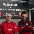 Harrow Times: Darron Wilkinson, right, has teamed up with Jason Goodliffe and Dave Anderson