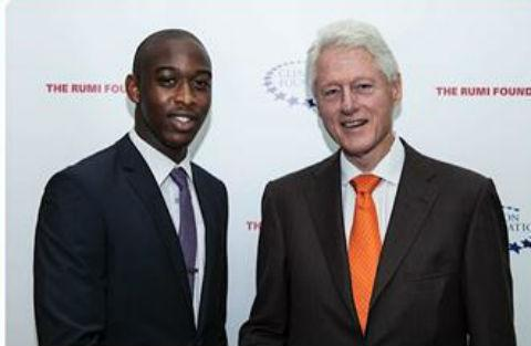 Edgware student goes to lunch with Bill Clinton