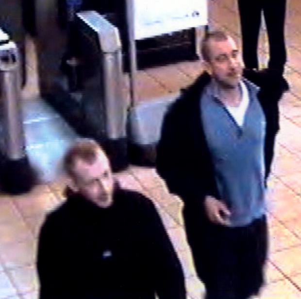 Detectives want to speak to these two men, seen leaving Sudbury Town Station.