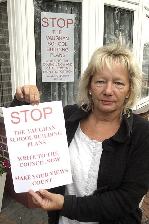 Rosalyn Neale has started a petition and poster campaign against the plan.