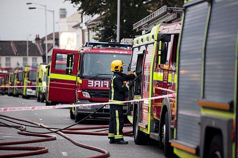 Blaze badly damages third floor flat