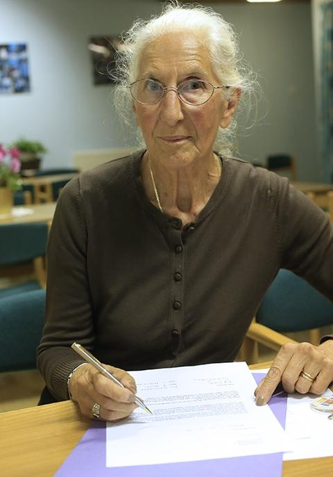Pamela Stuckey has collected signatures from users urging the council to think again on the cuts.