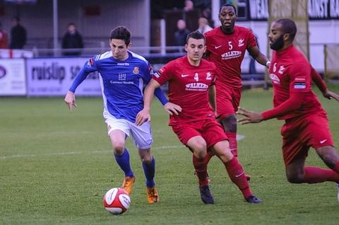 Tom Pett netted in the weekend win over Carshalton: Steve Foster/Wealdstone FC