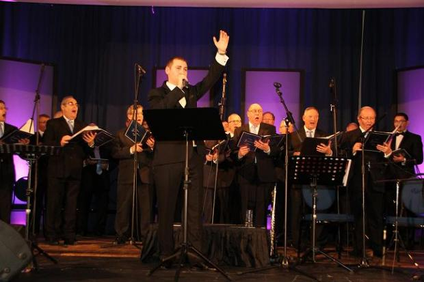 The concert was held in the synagogue's newly refurbished hall