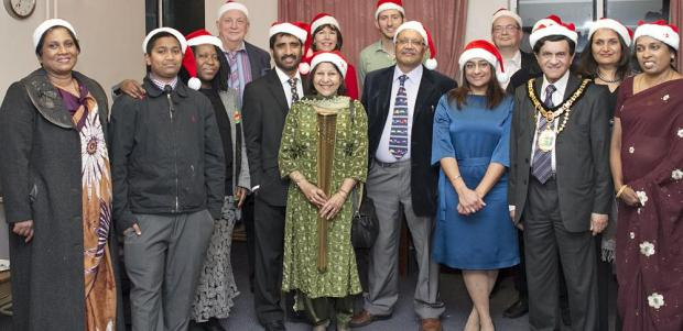 Harrow Times: The party was attended by a number of councillors and local dignitaries (photo by Husain Aktar)