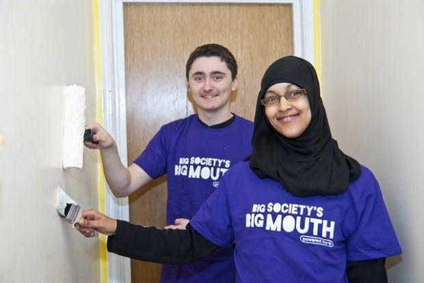 Harrow Times: The volunteers painted the hallway of the house