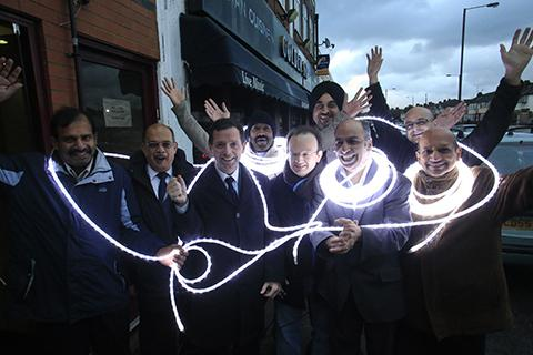 The South Harrow Traders Association holds a range of events - in 2012 members switched on the area's Christmas lights