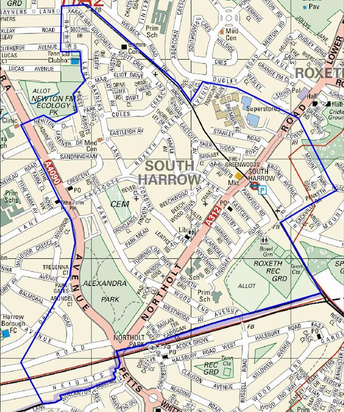 Police have released this map which shows the borders of the dispersal zone