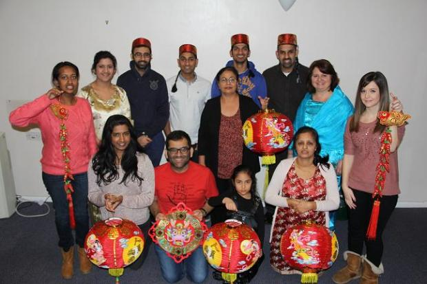 Harrow Asian Deaf Club held a joint New Year and Chinese New Year celebration