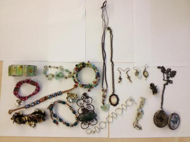 The jewellery has been returned to its owner eight months after it was stolen