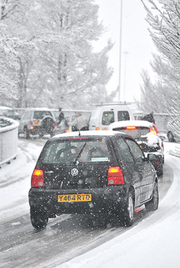 Snow is expected to arrive in north London at midday tomorrow