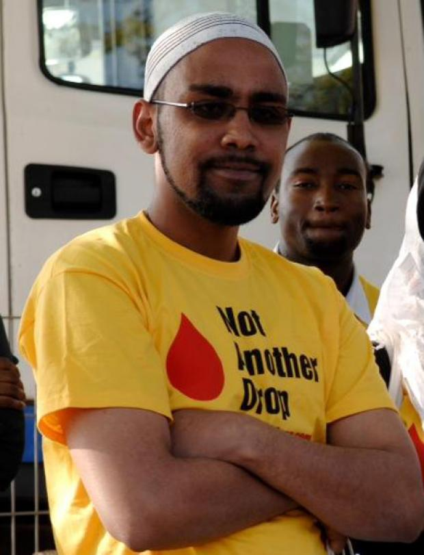 Special Constable Jamal Moghe has been killed in Kenya. Picture courtesy of the Not Another Drop campaign.