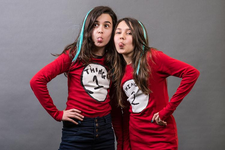 Photo by Steve Foster: Greta Nuzi, 12, (left) and Aliyah Yousaf, 11, (right)