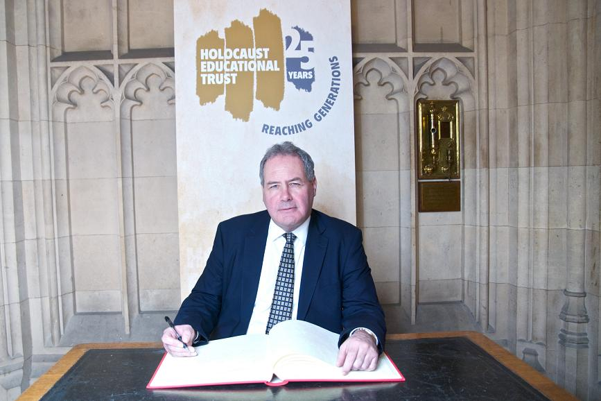 Bob Blackman MP signed the Book of Commitment at the House of Commons