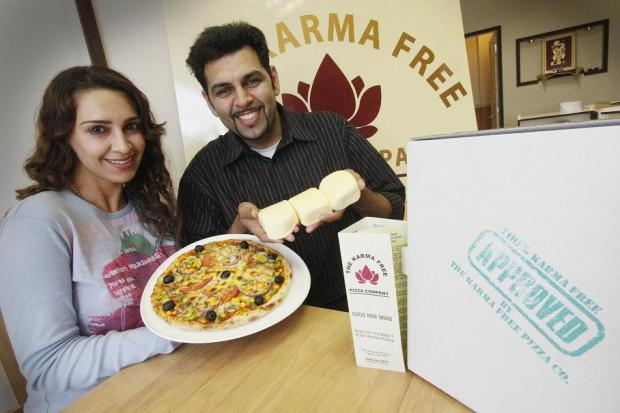 The Karma Free Pizza Company is owned by Shyam Raithatha and Saloni Ben-Belaid