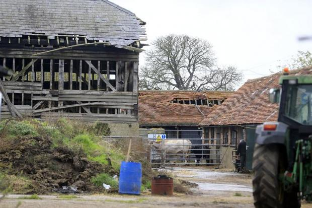 Pinner Park Farm is currently in a state of disrepair