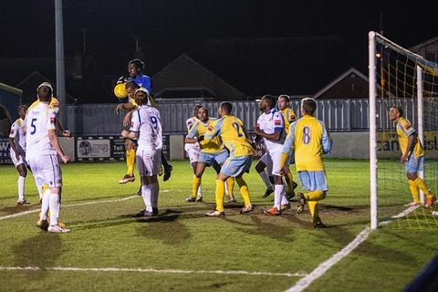 The Stones suffered a defeat at Canvey Island: Steve Foster/Wealdstone FC