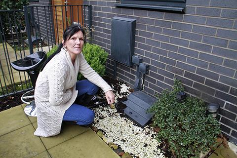 Harrow Times: Jane Hussain outside her house in Hitchin Lane