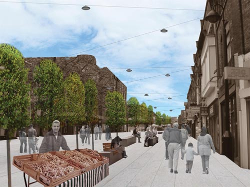 An artist's impression of St Ann's Road after the £2million paving and lighting work