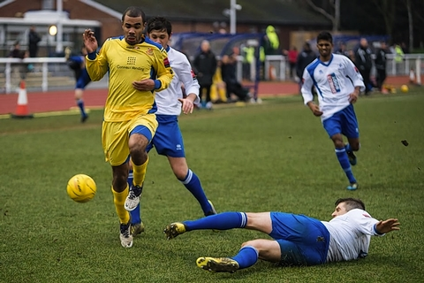 Alex Dyer netted the winner for Wealdstone: Steve Foster/Wealdstone FC