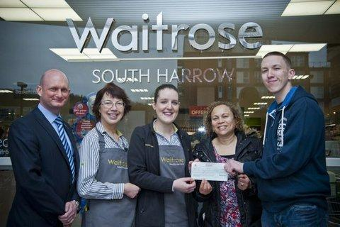 Waitrose Manager Mark Brown, Nicola Wolfe, Ophelia Comrie and 19-year old Jack