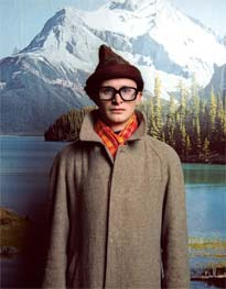 Escape artist: Simon Munnery sees his show as exploring rejection of the world'. He plays all the characters in the piece