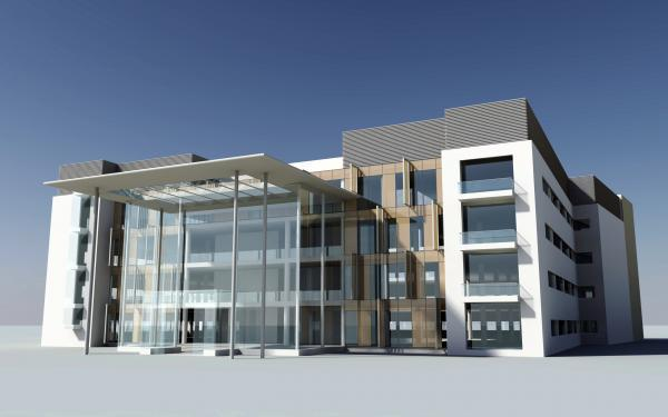 An artist impression of what the new hospital will look like