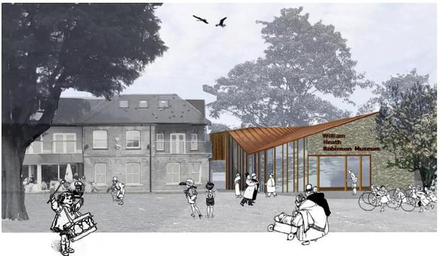An artist's impression of the new museum building