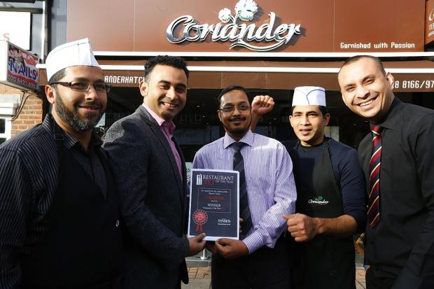 Last year, Harrow Times readers voted Coriander Restaurant of the Year