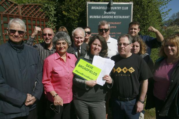 Campaigners hand in petition against caravan site