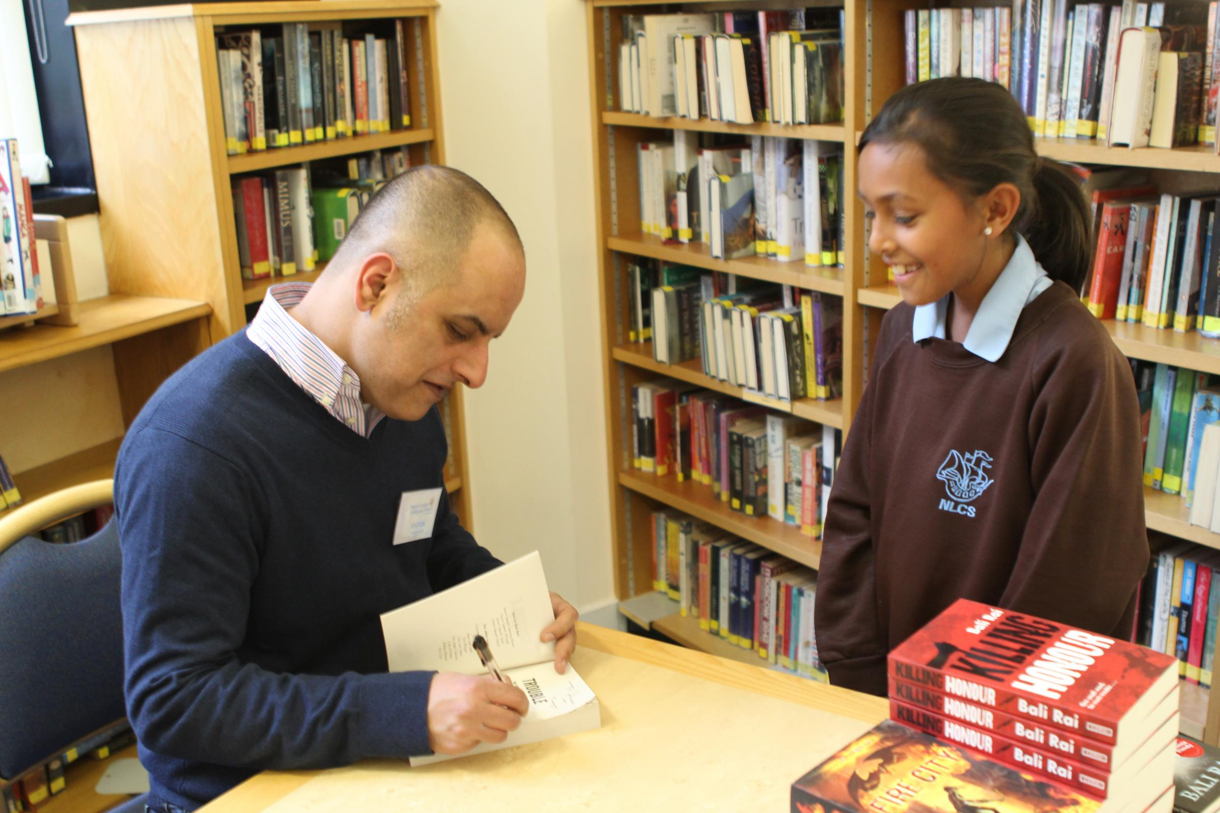 Author visits school to inspire pupils