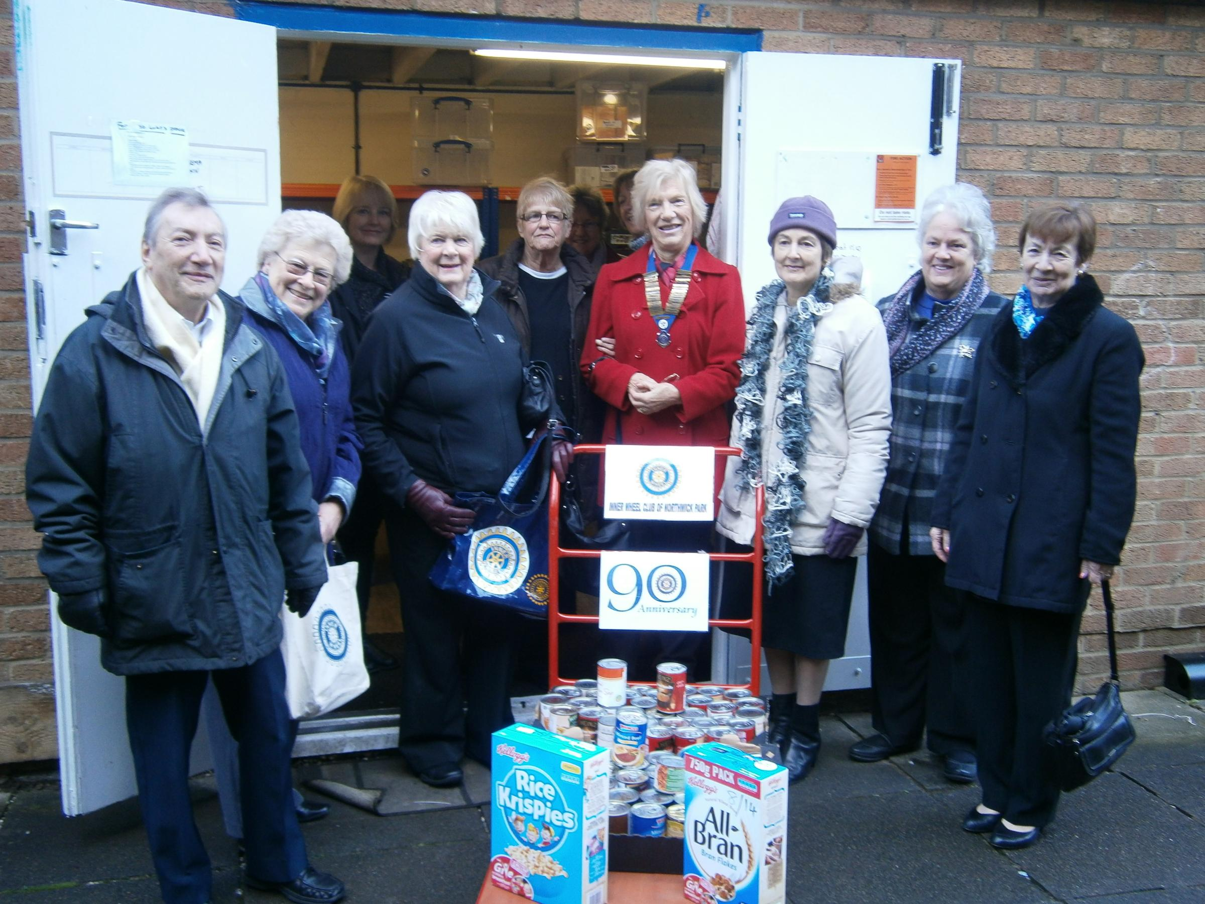 Organisation donates new trolley to foodbank
