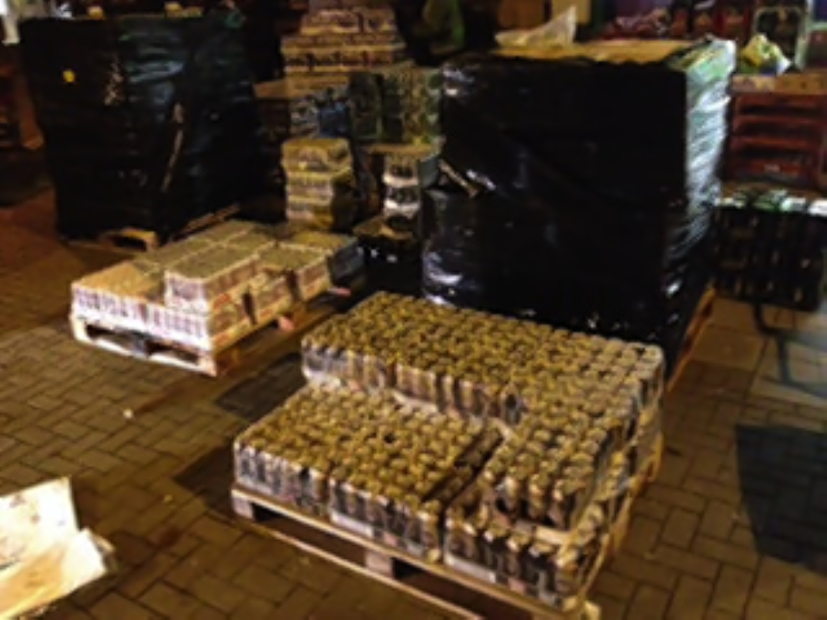 Alcohol seized in raid