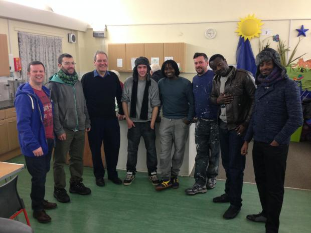 Harrow East MP Bob Blackman at the FirmFoundation homeless shelter